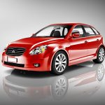 Three Dimensional Shape Red 3D Sedan