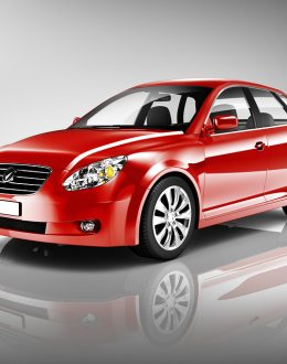 Three-Dimensional Shape Red 3D Sedan